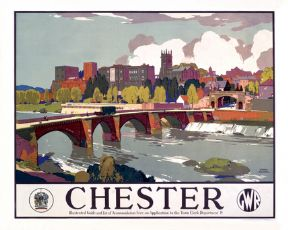 Great Western Railway Travel Poster Art Print, Chester England